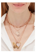 Genevieve Lau - Rose Gold Diamond Loved Pendant Necklace