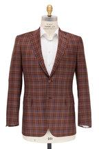 Brioni - Orange & Blue Windowpane Wool Sportcoat