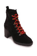 Aquatalia - Ihana Black Suede Weatherproof Boot, 70mm