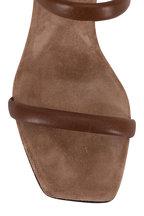 Brunello Cucinelli - Dark Brown Two-Band Monili Block Heel Sandal, 80mm