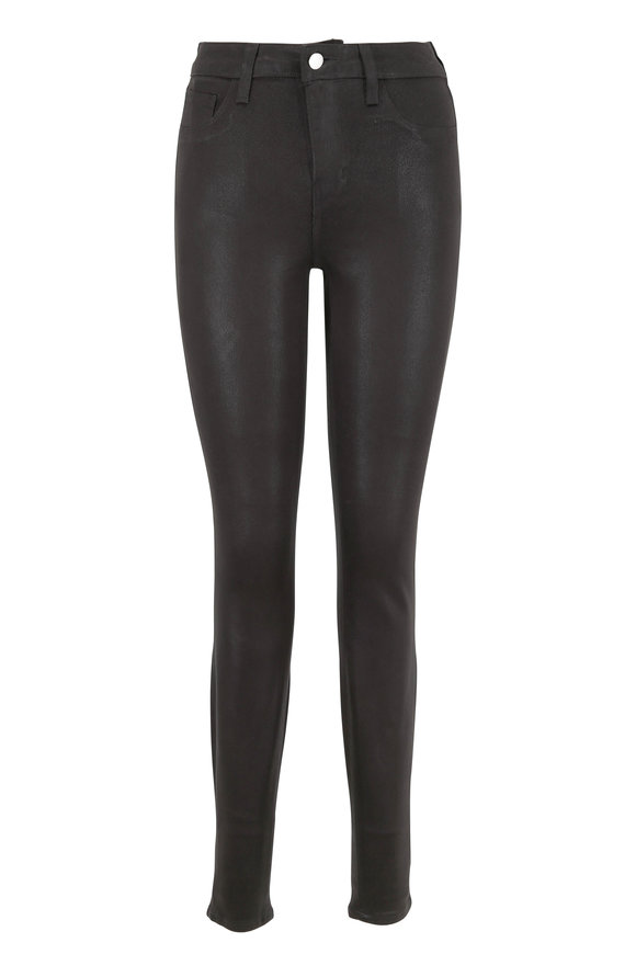 L'Agence Marguerite Gray Coated High-Rise Skinny Jean