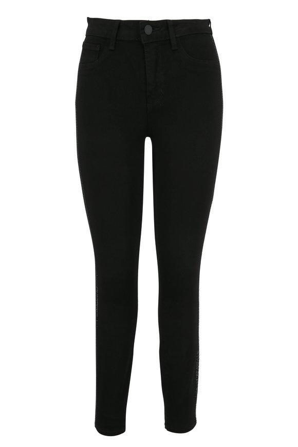 L'Agence Margot Black Tuxedo Stripe High-Rise Skinny Jean