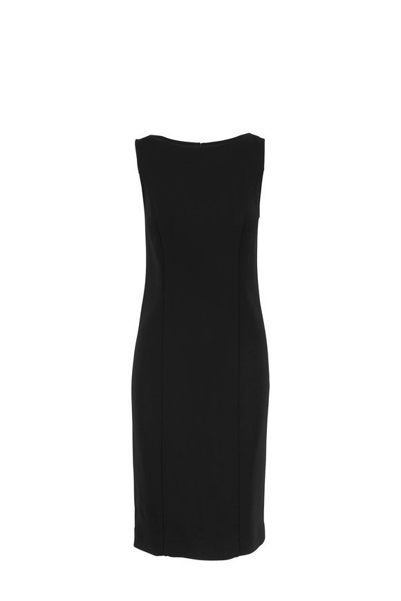 Carolina Herrera Black Sleeveless Sheath Dress