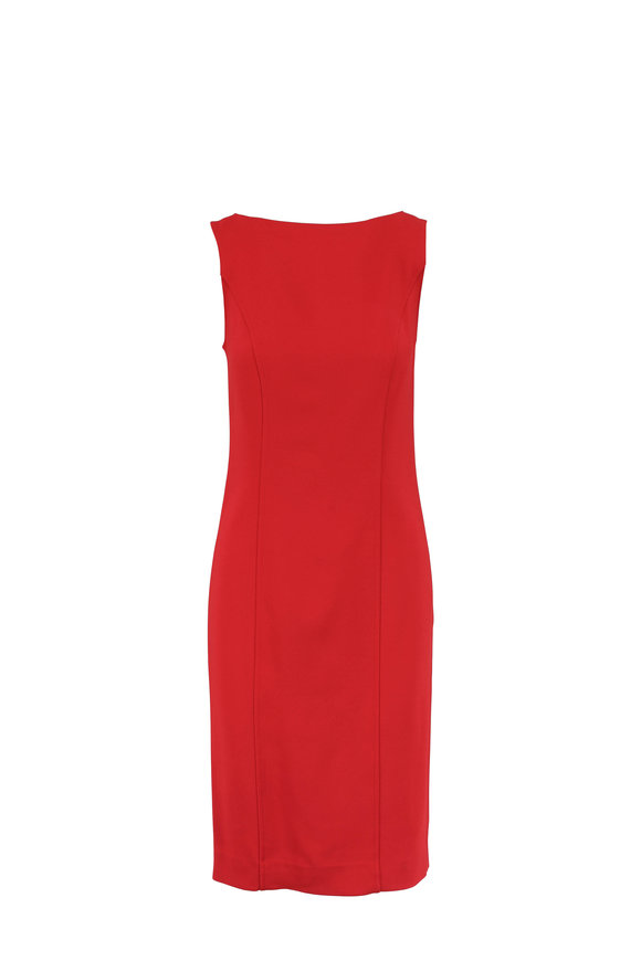 Carolina Herrera Icon Red Sleeveless Sheath Dress