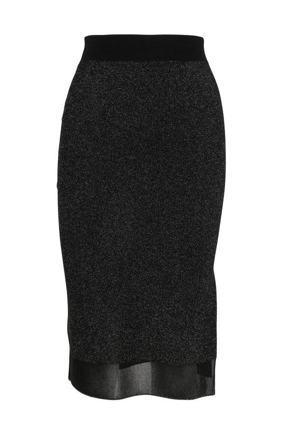 Rag & Bone Rower Black Sparkle Knit Pencil Skirt
