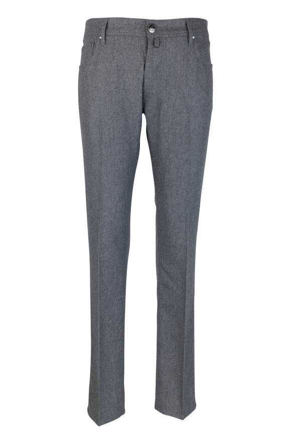 Jacob Cohen  Gray Brushed Wool Jean