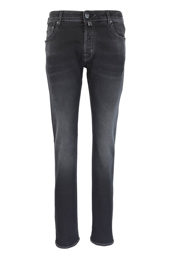 Jacob Cohen  Black Rinsed Five Pocket Jean