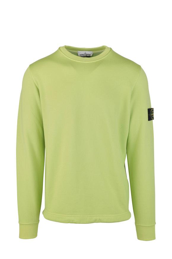 Stone Island Pistachio Nylon Fleece Crewneck Sweatshirt