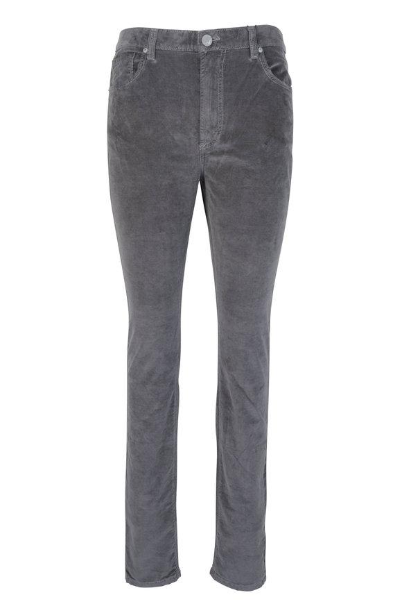 Monfrere Brando Sterling Gray Velvet Five Pocket Jean