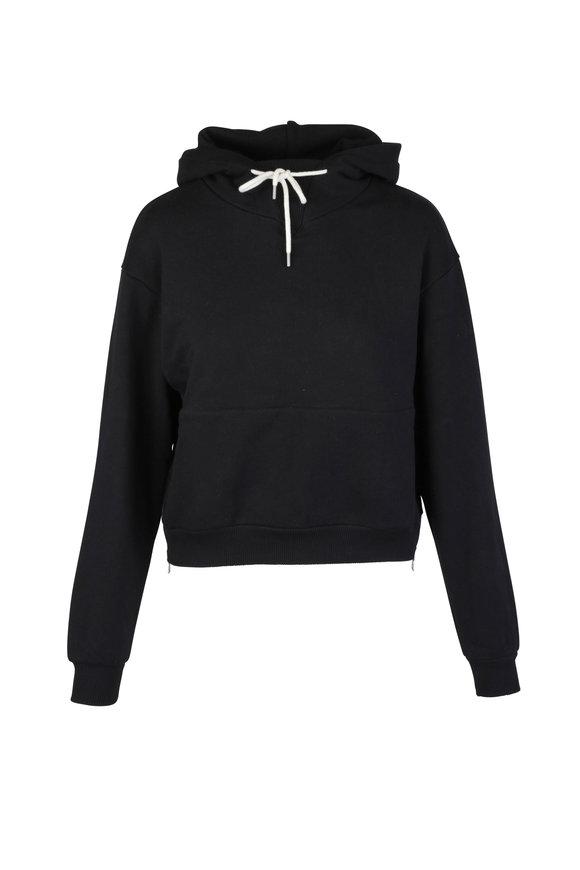 John Elliott Black Pullover Hoodie Sweater