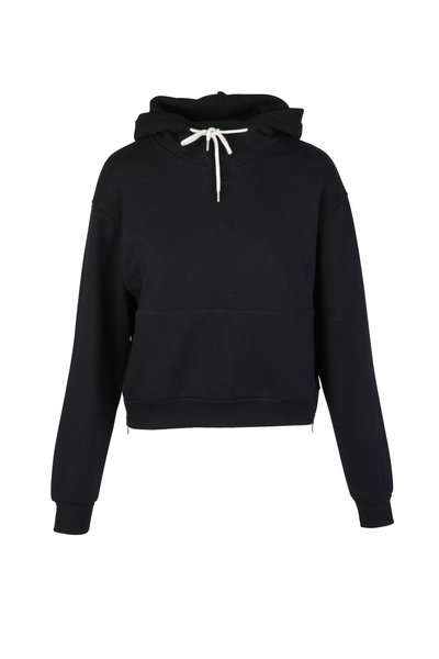 John Elliott - Black Pullover Hoodie Sweater