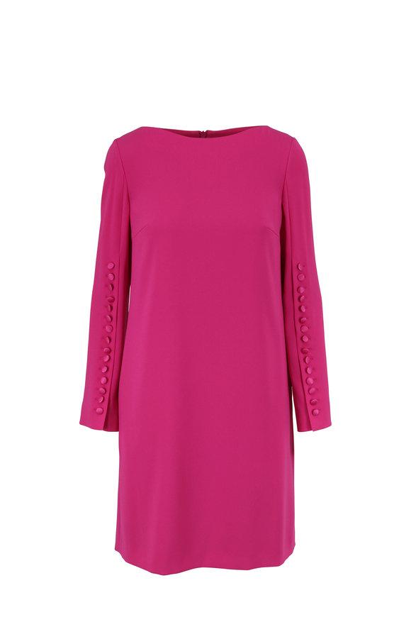 Escada Dehva Sari Pink Button Long Sleeve Dress