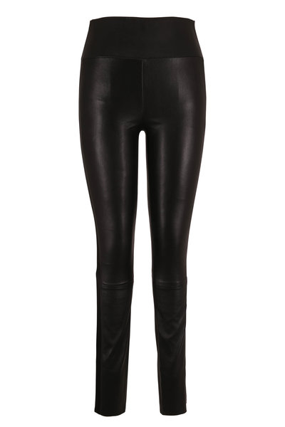 SPRWMN LLC - Black Tux Striped Leather Legging