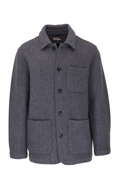 Faherty Brand - Chore Gray Stretch Wool Coat