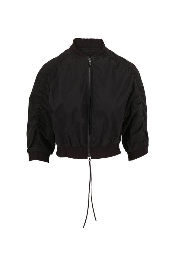 Dorothee Schumacher Taffeta Revolution Black Bomber Jacket