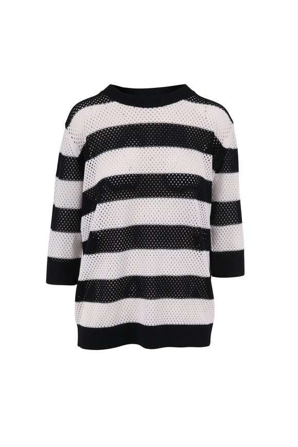 Dorothee Schumacher Sporty Lightness Black & White Knit Pullover