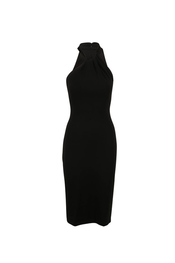 Cushnie Black Halter Sleeveless Pencil Dress