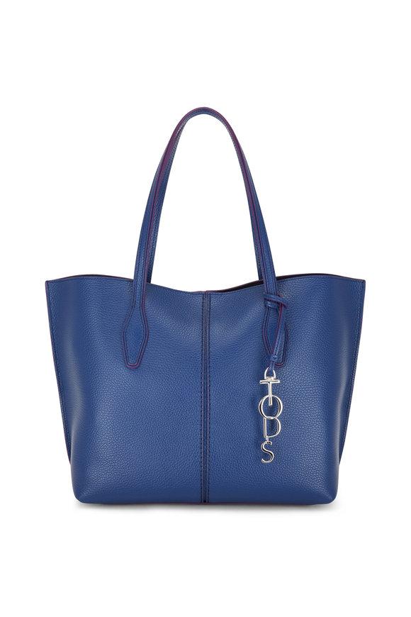 Tod's Joy Petrol Blue Pebbled Leather Shoulder Bag