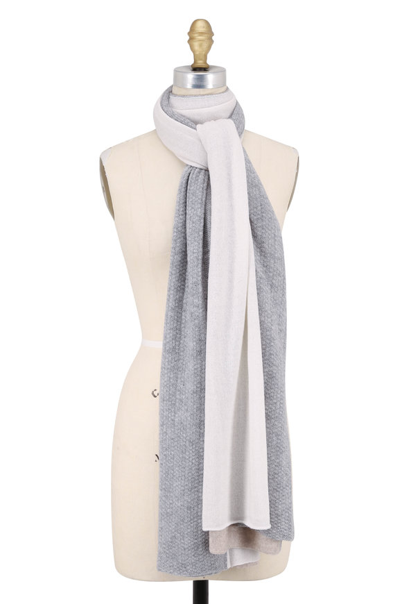 Kinross Fawn Multi Cashmere Colorblock Travel Wrap