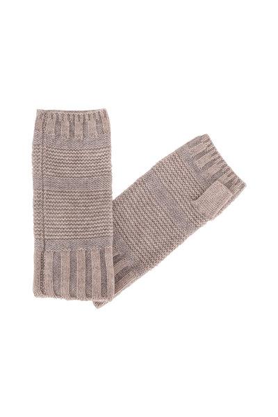 Kinross - Fawn & Sterling Cashmere Fingerless Gloves
