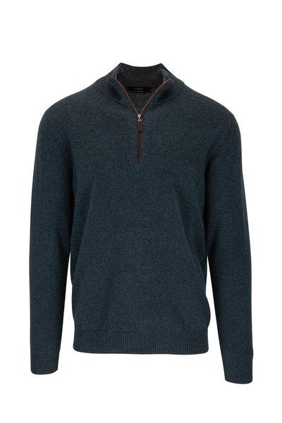 Kinross - Wintergreen Quarter-Zip Cashmere Pullover