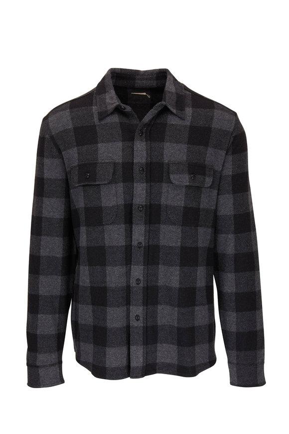 Faherty Brand Legend Charcoal Black Buffalo Button Down Shirt
