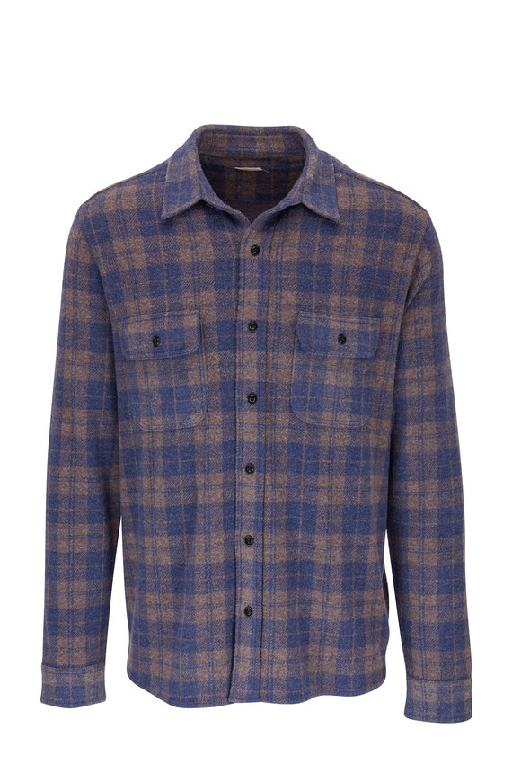 Faherty Brand Legend Harvest Plaid Sweater Shirt