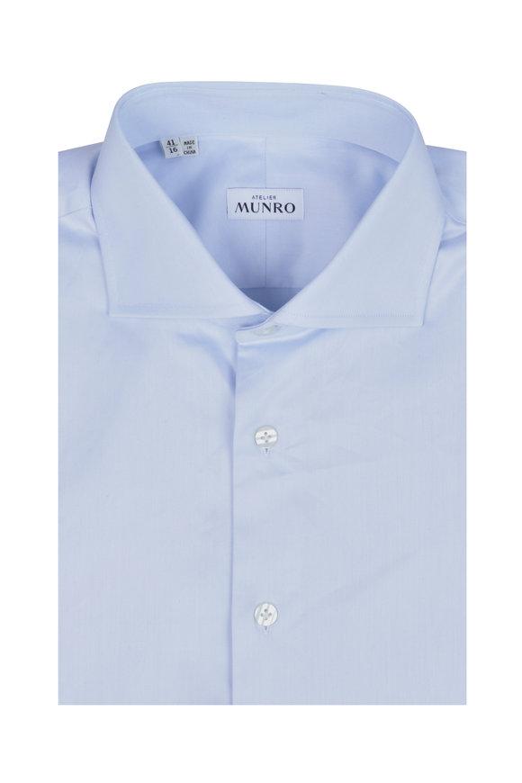 Atelier Munro Light Blue Fine Twill Dress Shirt