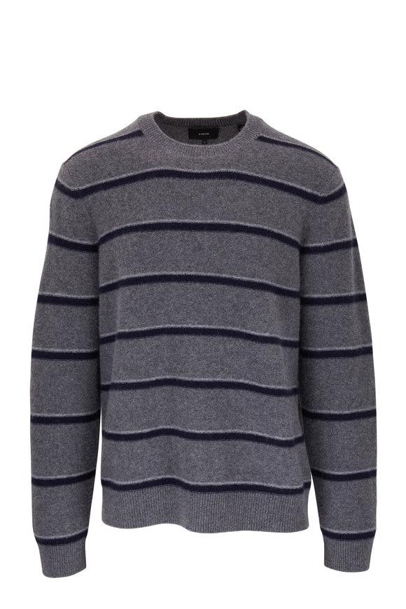 Vince Heather Medium Gray & Coastal Cashmere Pullover