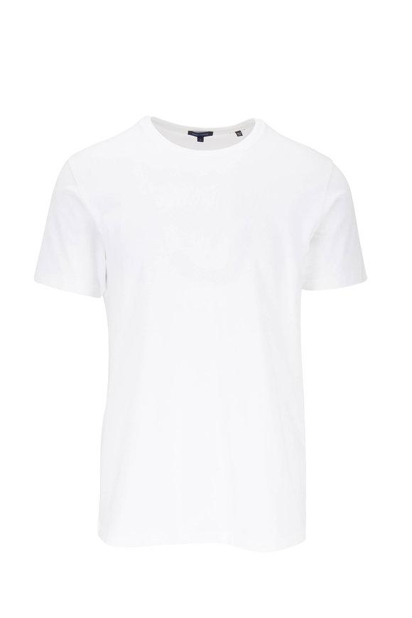 PYA Patrick Assaraf Basic White Crewneck T-Shirt