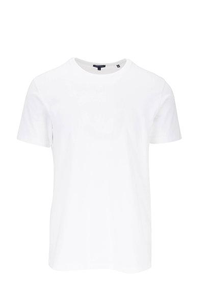 PYA Patrick Assaraf - Basic White Crewneck T-Shirt