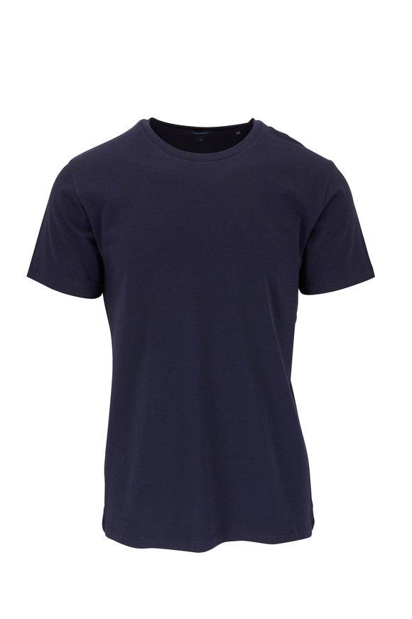 PYA Patrick Assaraf Basic Navy Crewneck T-Shirt