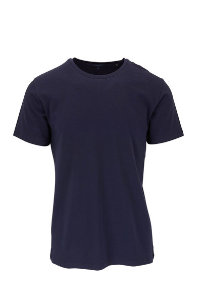 PYA Patrick Assaraf - Basic Navy Crewneck T-Shirt