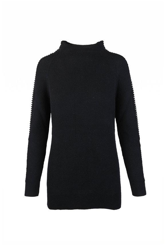 D.Exterior Black Cashmere, Silk & Wool Macrame Sweater