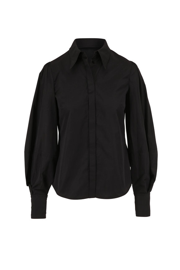 Dorothee Schumacher Revolution Black Taffeta Blouse