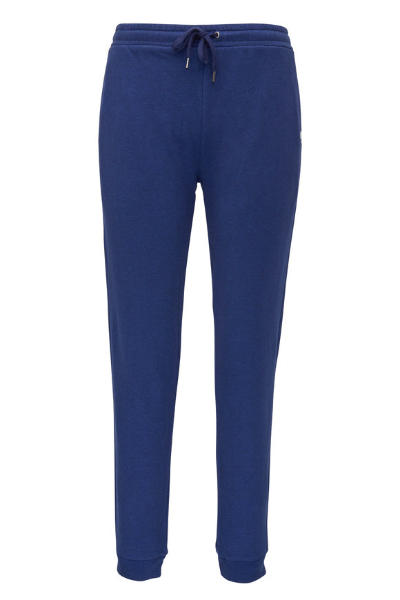 Derek Rose Navy Cotton Sweatpant
