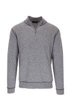 Kinross - Gray & Limestone Quarter-Zip Cashmere Pullover