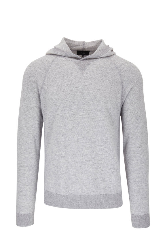Vince Gray Wool & Cashmere Hoodie