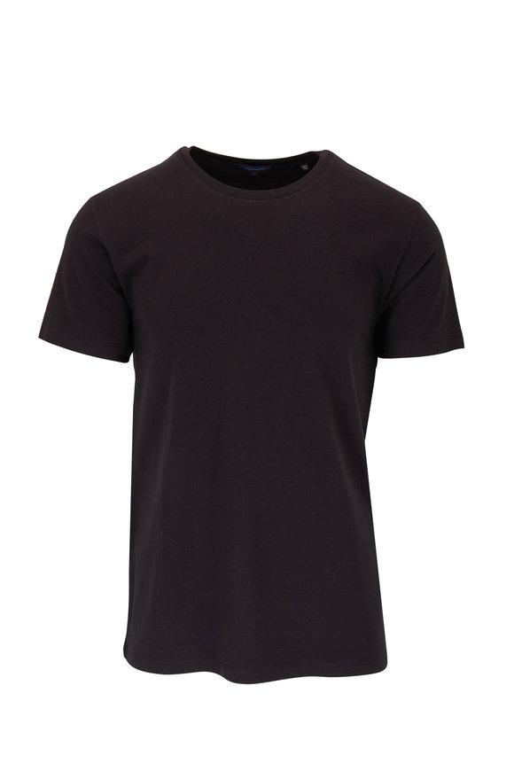 PYA Patrick Assaraf Basic Black Crewneck T-Shirt