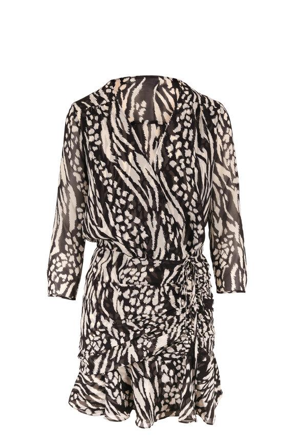Veronica Beard Kiran Black & Bone Printed Mini Dress