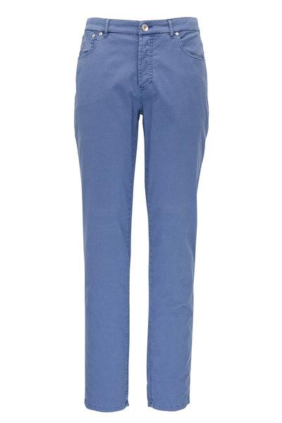 Brunello Cucinelli - Blue Italian Fit Five Pocket Jean