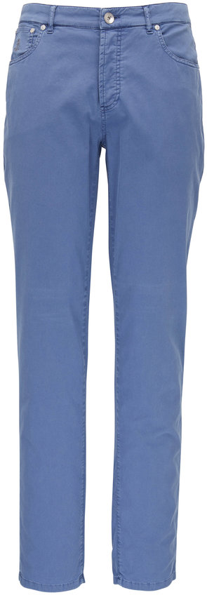 Brunello Cucinelli Blue Italian Fit Five Pocket Jean