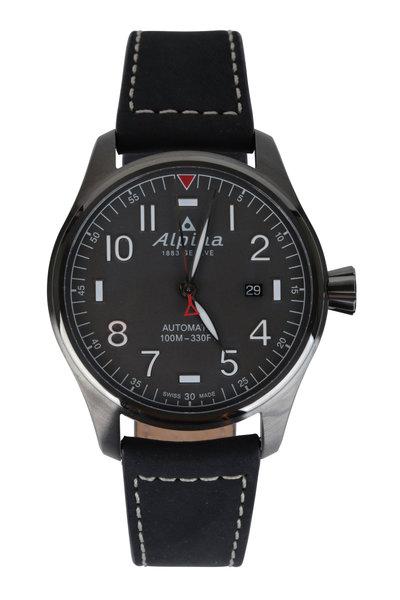 Alpina - Startimer Pilot Black Automatic Watch, 44mm