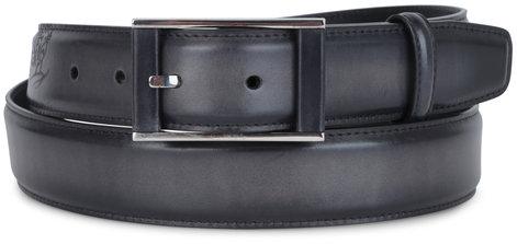 Berluti Scritto Black Leather Belt