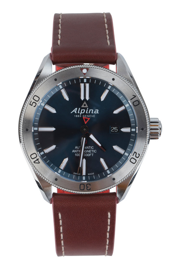 Alpina Alpiner 4 Blue & Brown Watch, 44mm