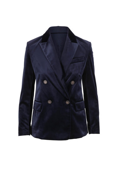 Vince - Baltic Velvet Double-Breasted Blazer