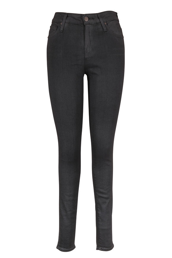 AG - Adriano Goldschmied Farrah Washed Black Coated High-Rise Skinny Jean