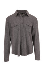 Vince - Medium Heather Gray Wool & Cashmere Overshirt