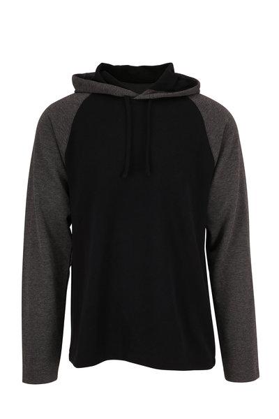 Vince - Medium Gray & Black Colorblock Hoodie