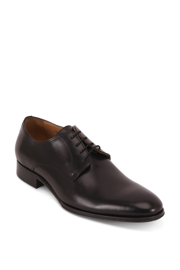 To Boot New York Declan Black Cloud Leather Derby Shoe
